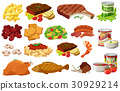Different kinds of healthy food 30929214