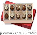 Box of chocolate with red lid 30929245