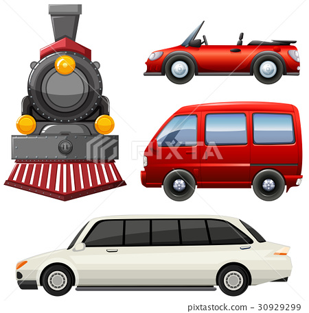 Different types of vehicles 30929299