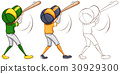 baseball ball player 30929300