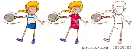 Female tennis player  30929303