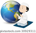white, muslim, praying 30929311
