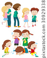 Kids in different emotions 30929338
