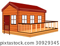 Wooden cottage with terrace 30929345