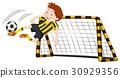 Goalkeeper at the goal 30929356
