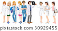 Male and female doctors and nurses 30929455