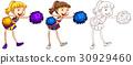 Doodle character for cheerleader 30929460