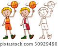 drafting player basketball 30929490