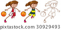 Drafting character for female basketball player 30929493