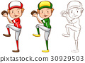 Drafting character for baseball player 30929503