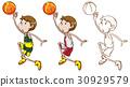 起草 球 籃球 30929579