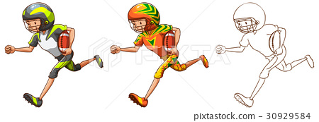 Drafting character for American football player 30929584