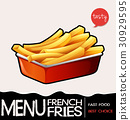 Frenchfries in red tray 30929595