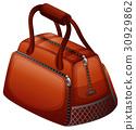 Handbag in brown color 30929862