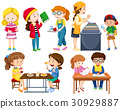 Students doing different activities 30929887