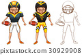 Doodle character for American football player 30929908