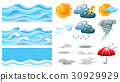 Different symbols of weather 30929929