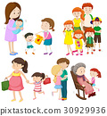 People in family at different generations 30929936