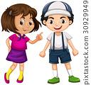 Happy boy and girl 30929949