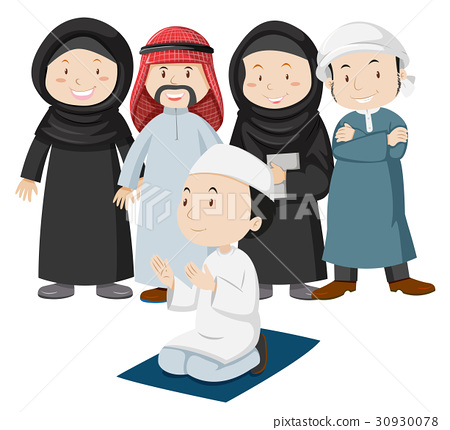 Muslim people in tradition outfit 30930078