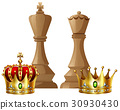 King and queen pieces of chess game 30930430