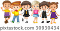 Many kids with happy face 30930434