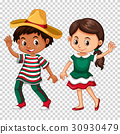 Mexican boy and girl on transparent background 30930479
