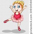 Cute ballerina on transparent background 30930560