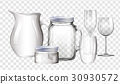 Different types of containers made of glass 30930572