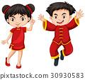 传统 男孩 女孩 30930583