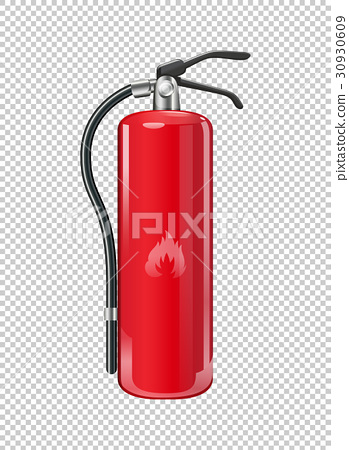 Fire extinguisher on transparent background 30930609
