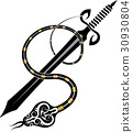 Tattoo Snake And Sword 30930804