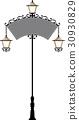 Wrought Iron Signage With Lamp, Lantern 30930829