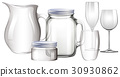 Different types of glass containers 30930862