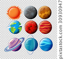 Different planets in solar system  30930947