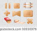 Different designs of bandages  30930976