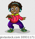 African american boy with headphone 30931171