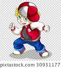 Hiphop boy in red jacket 30931177