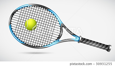 Tennis racket and ball 30931255