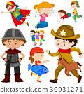 Kids in different costume 30931271