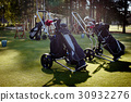 Golf trolleys with equipment 30932276