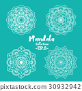 Set of mandala decorative and ornamental 30932942