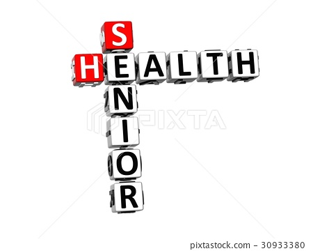 3D Crossword Senior Health on white background 30933380