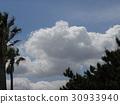 藍天 藍藍的天空 白雲 30933940
