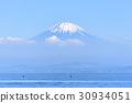 富士山 聖山 雪冠 30934051