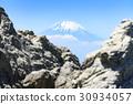 富士山 聖山 雪冠 30934057