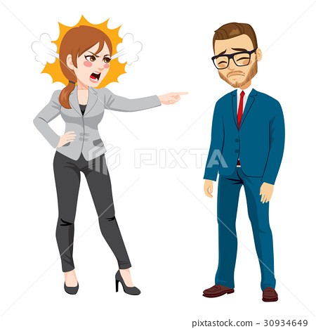 Businesswoman Firing Businessman 30934649