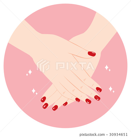 Red Manicure Hands 30934651
