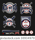 Baseball badge logo template 30934970