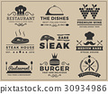 Set of restaurant and cuisine logo template 30934986